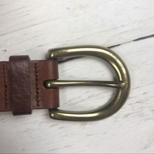 Fossil Accessories - Fossil Leather Belt With Studs and Stitching Small